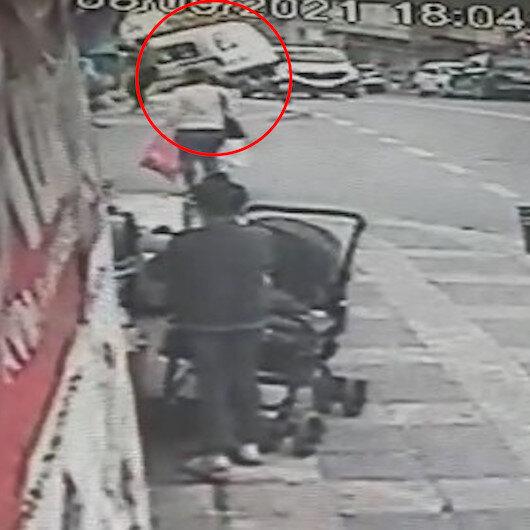 Ataşehir'de el freni boşalan araç apartman bahçesine uçtu
