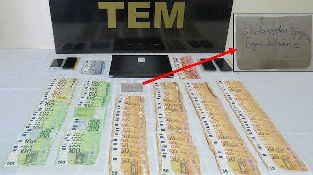 FETÖ hükümlüsünün para çantasından 'Bayram harçlıklarınız' notu çıktı