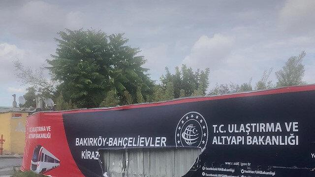 İstanbul'da bakanlığın metro şantiyesine saldırı
