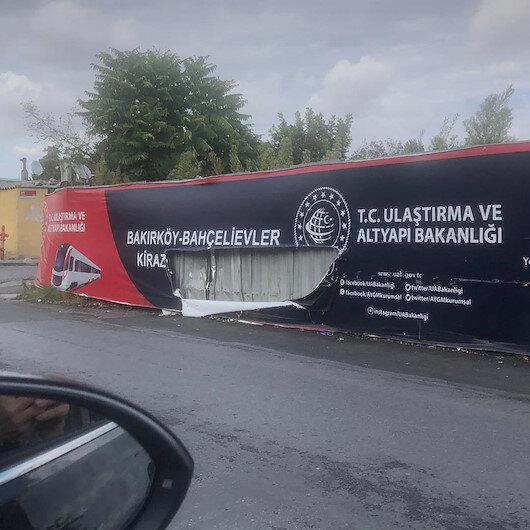 İstanbulda bakanlığın metro şantiyesine saldırı