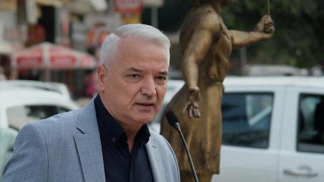 CHP'li Belediye Başkanı Zeki Bilgin ilçesine 'Sağlıkçı Anıtı' yaptırdı