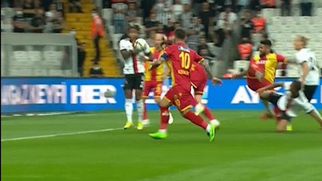 Beşiktaş-Yeni Malatyaspor maçında tartışma çıkaran pozisyon