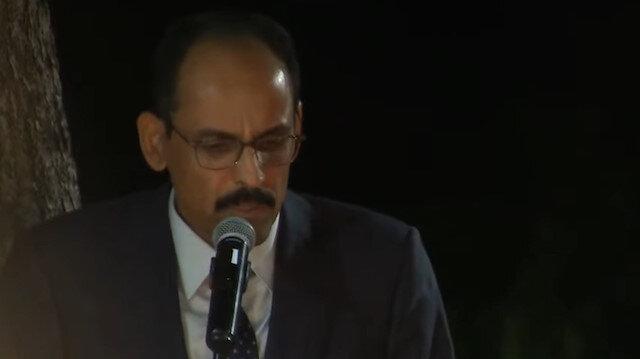 Cumhurbaşkanlığı Sözcüsü Kalın 'Sen Benimsin Ben Seninim'i seslendirdi