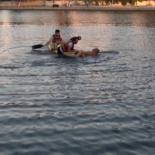 Antalyada Titreyengöle giren Rus turist güçlükle çıkarıldı