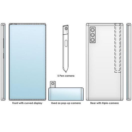 Samsung kameralı S-Pen kalemi için patent aldı