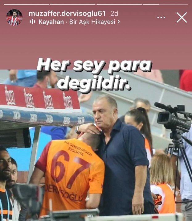 Halil Dervişoğlu'nun babasının yaptığı sosyal medya paylaşımı.