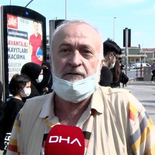 İstanbulda tramvay arızasına vatandaştan tepki: Büyük olduğu için arkadan itemiyoruz