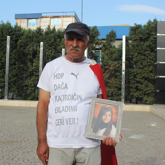 Kızı PKK tarafından kaçırılan baba Ankaraya Ümit Yürüyüşü başlattı
