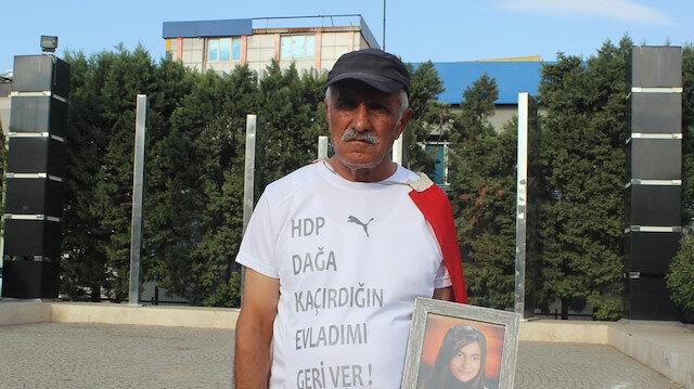 Kızı PKK tarafından kaçırılan baba Ankara'ya 'Ümit Yürüyüşü' başlattı