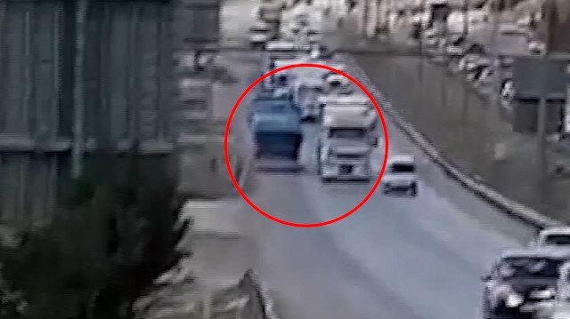 Kırıkkale'de ters yöne giren tır sürücüsü trafiği tehlikeye attı