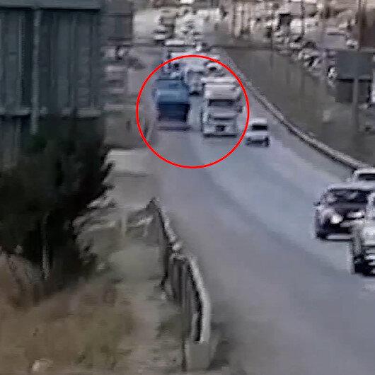 Kırıkkalede ters yöne giren tır sürücüsü trafiği tehlikeye attı