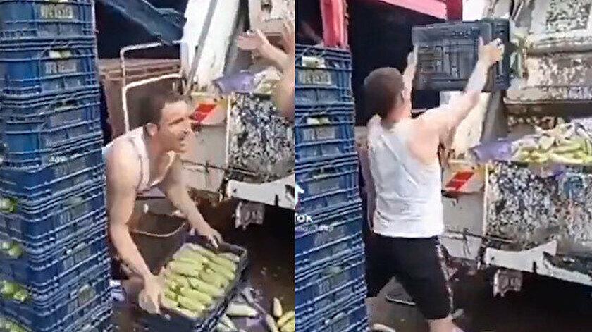 İstanbul'da halde, onlarca kasa kabak çöpe atılmıştı.
