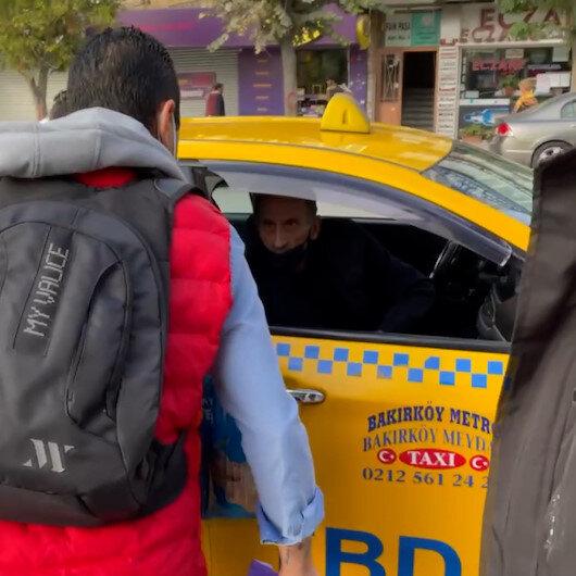 Bakırköyde taksiciyle müşterinin kısa mesafe tartışması: Almıyorum istediğin yere şikayet et