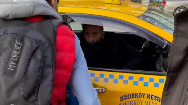 Bakırköy'de taksiciyle müşterinin kısa mesafe tartışması: Almıyorum istediğin yere şikayet et