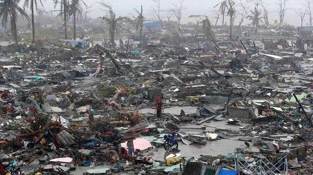 Türkiye'den Filipinler'deki tayfunda hayatını kaybedenler için taziye mesajı