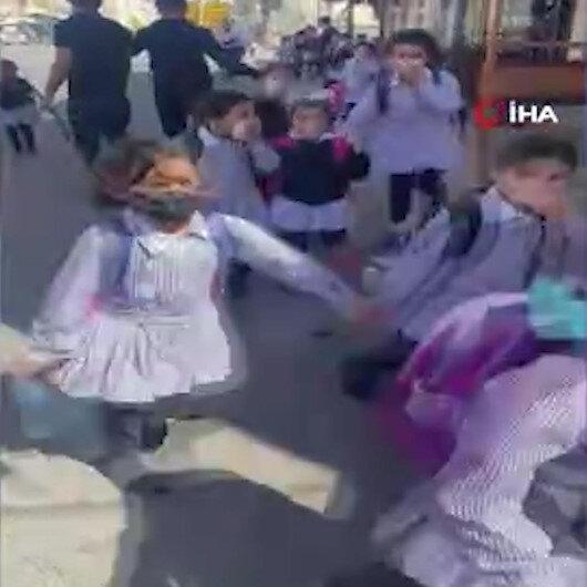 İşgalci İsrail ilkokul ve anaokuluna göz yaşartıcı bomba attı:  Filistinli çocuklar korku içinde kaçtı