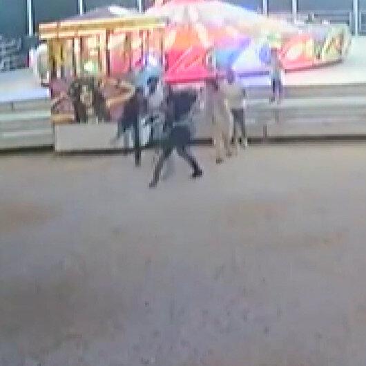 Kocaelide lunaparkta balerine binme kavgası kamerada