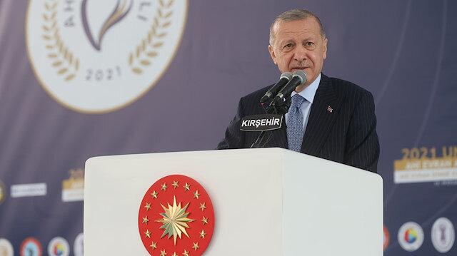 Cumhurbaşkanı Erdoğan'dan Kırşehir'de enflasyon mesajı: Enflasyonu düşüreceğiz, fahiş fiyatı durduracağız