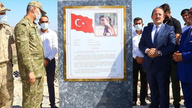 Şırnak'ta petrol keşfedilen kuyuya şehit Esma Çevik'in ismi verildi