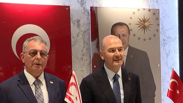 Bakan Soylu KKTC İçişleri Bakanı Kutlu Evren ile görüştü
