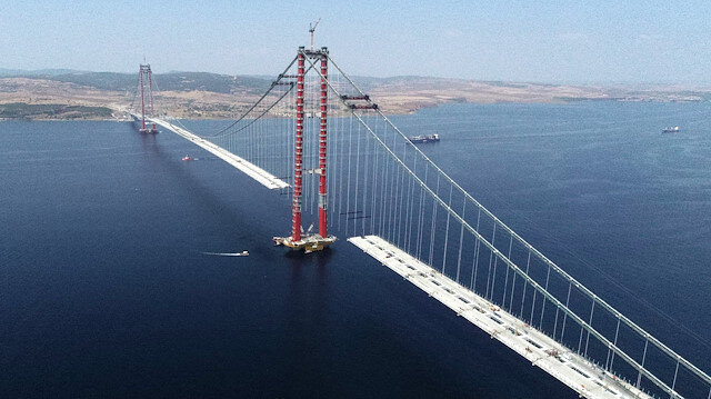 1915 Çanakkale Köprüsü'nde müjdeyi Bülent Turan verdi: Salı günü köprüyü yürüyerek geçeceğiz