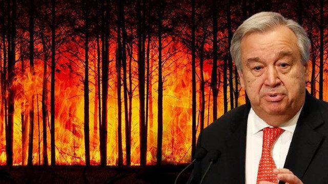 BM Genel Sekreteri Guterres uyardı: Dünya 2,7 santigrat derecelik sıcaklık artışına giden felaket bir yolda