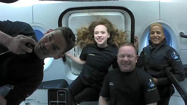 Uzay'ın ilk turistlerinden ilk kare