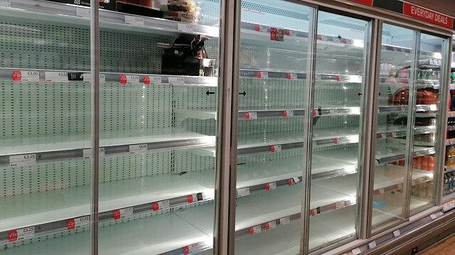İngiltere'de gıda kıtlığı: Marketlerde stoklar tükendi