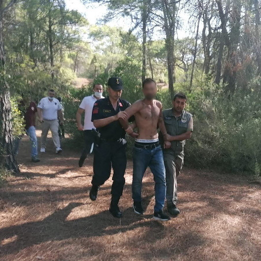 Manavgatta ormanı yakan kişi suçüstü yakalandı