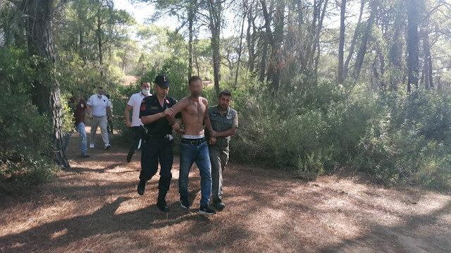 Manavgat'ta ormanı yakan kişi suçüstü yakalandı