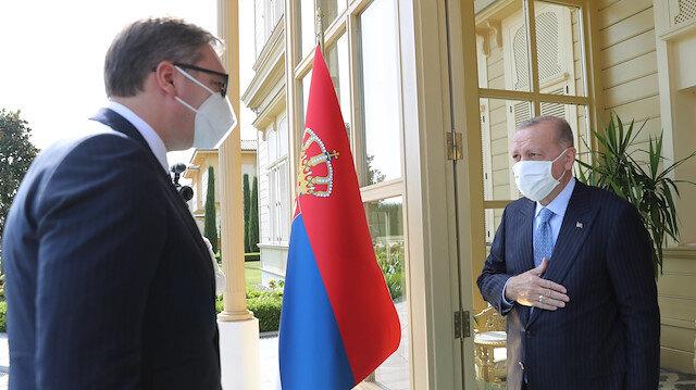 Cumhurbaşkanı Erdoğan Sırbistanlı mevkidaşıyla görüştü