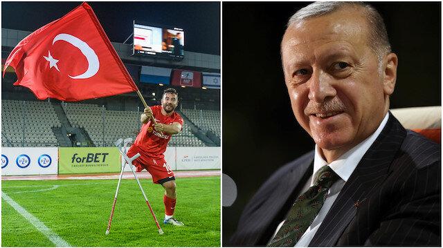Cumhurbaşkanı Erdoğan'dan Ampute Futbol Milli Takımı'na tebrik