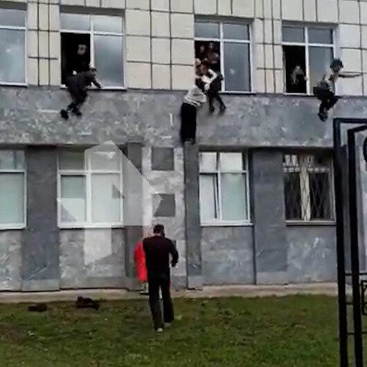 Rusyada üniversiteye silahlı saldırı: Öğrenciler camlardan atlayarak kurtuldu