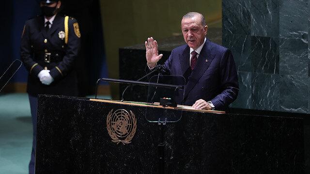 Cumhurbaşkanı Erdoğan BM Genel Kurulu'nda 'Dünya 5'ten büyüktür' çıkışını tekrarladı: Doğayı sömüren elini taşın altına koysun