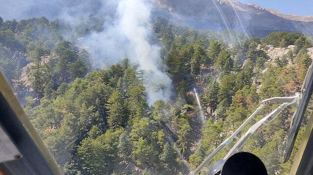 Manavgat'ta orman yangını: Kontrol altına alındı
