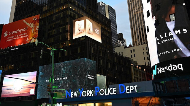 Cumhurbaşkanı Erdoğan'ın 'Daha Adil Bir Dünya Mümkün' kitabı New York'ta led ekranlarda tanıtıldı