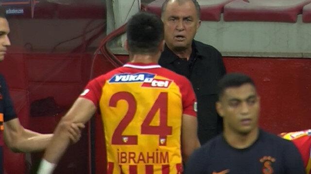 Kayserispor-Galatasaray maçının ilk yarısında ilginç an: