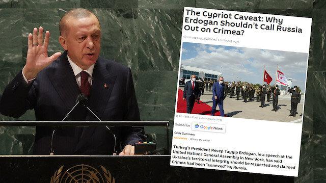 Cumhurbaşkanı Erdoğan 'Kırım' deyince Sputnik Rum tarafına geçti