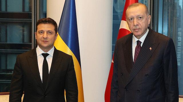 Cumhurbaşkanı Erdoğan, Ukrayna Devlet Başkanı Zelenskiy ile görüştü