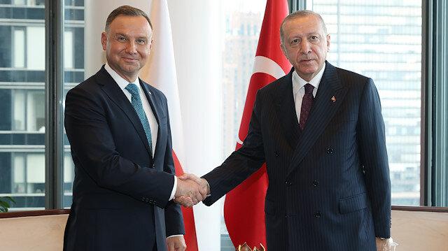 Cumhurbaşkanı Erdoğan Polonya ve Gine ve Gürcistan liderleriyle görüştü