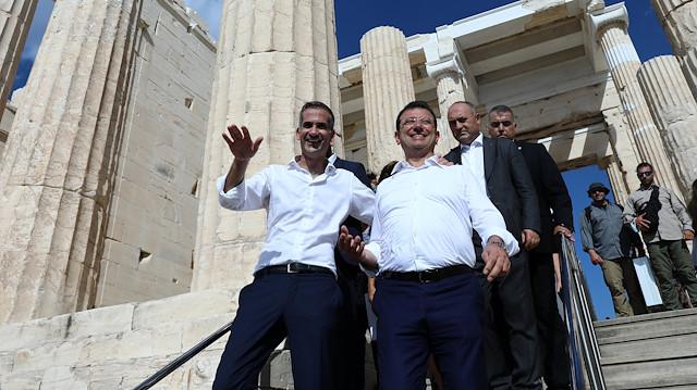 Yunan basını İmamoğlu'nun ziyaretini yorumladı: Atalarını ziyarete geldi!