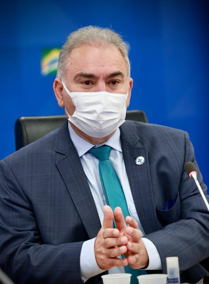 Sağlık Bakanı Marcelo Queiroga'nın koronavirüs testi pozitif çıkmıştı.