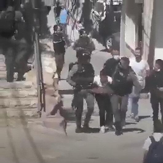 İşgalci İsrail güçleri 13 yaşındaki Filistinliyi öğrenciyi yaraladıktan sonra gözaltına aldı
