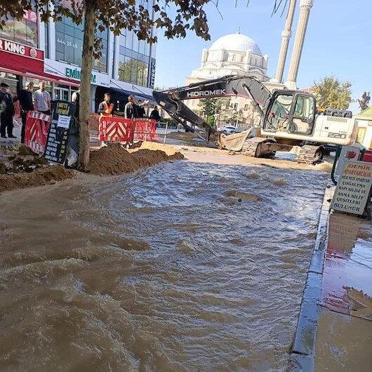 Tekirdağ'da patlayan su borusu vatandaşı isyan ettirdi: TESKİden yine beceriksizlik örneği
