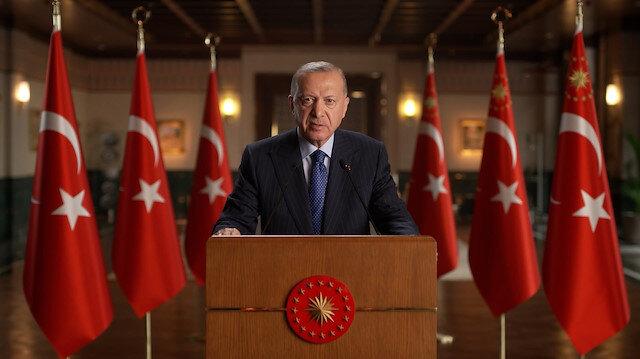 Cumhurbaşkanı Erdoğan'dan 'iklim krizi' mesajı : Ülkemiz üzerine düşeni yapmaya devam edecektir