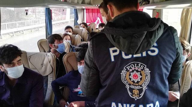 Ankara'da kaçak göçmen operasyonu: 25 kişi yakalandı