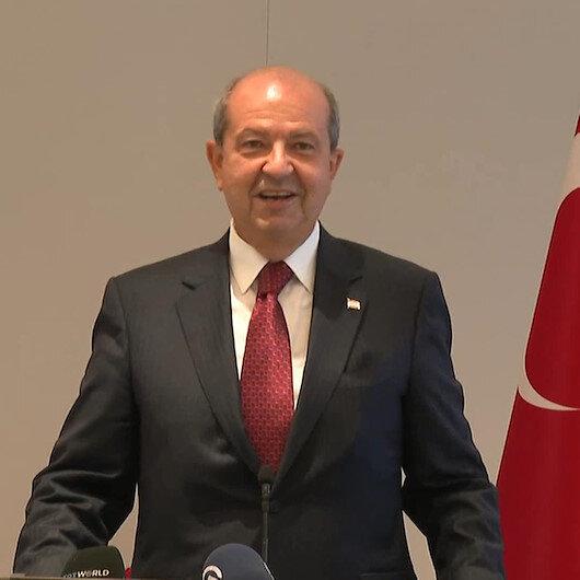 KKTC Cumhurbaşkanı Tatar ABD Başpiskoposuyla birlikte Türkevinin açılışında bulunmasına tepki gösteren Rum kesimine gülerek cevap verdi