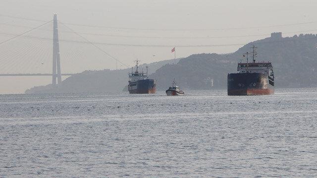 İstanbul Boğazı'nda feci kaza: Türk ve Rus bandralı iki yük gemisi çarpıştı