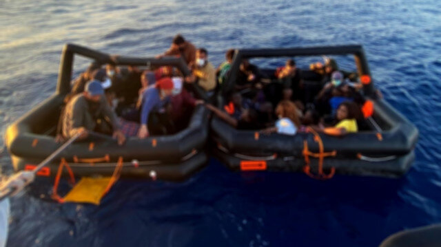 Yunanistan'a gitmeye çalışan 114 düzensiz göçmen yakalandı