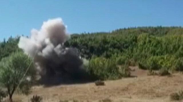 Bitlis'te toprak altına gömülen bombalar imha edildi